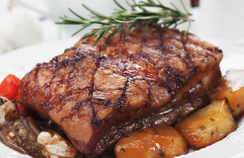 Slow Roast Belly Pork, Turlu Turlu & Salsa Verde