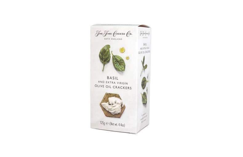 The Fine Cheese Co. Basil and Extra Virgin Olive Oil Crackers