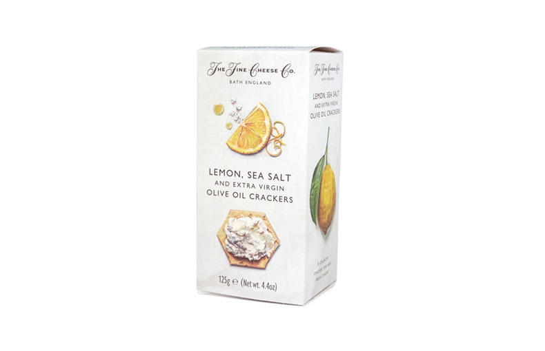 The Fine Cheese Co. Lemon, Sea Salt and Extra Virgin Olive Oil Crackers