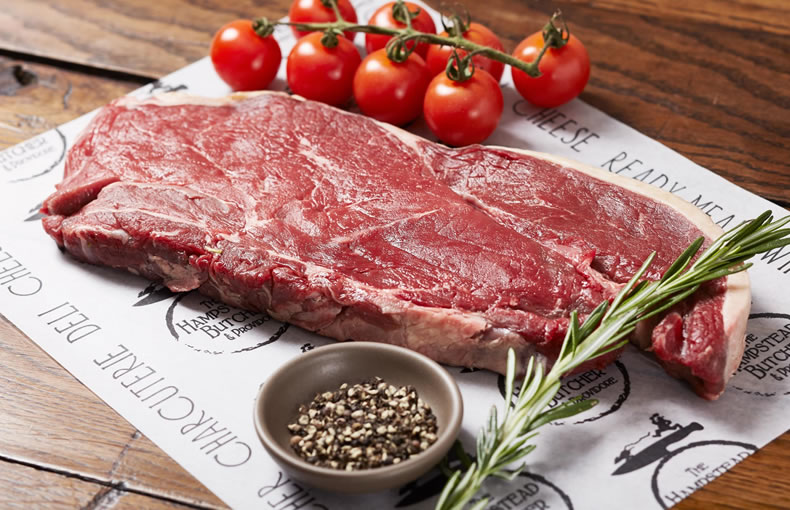 Rump Steak with Mushroom Tagliatelle