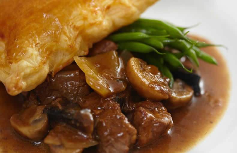 Braised Beef with Ale & Mushrooms
