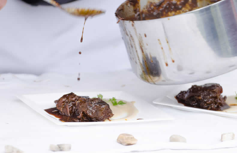 Braised Ox Cheek Bourguignon