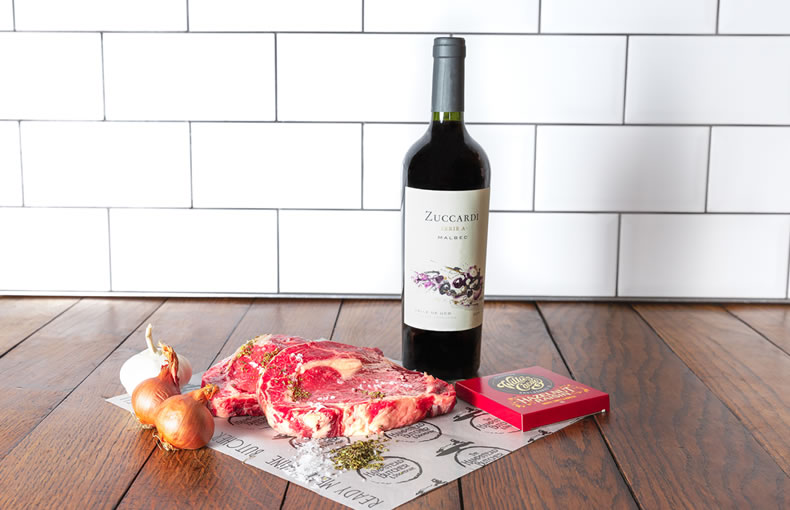 Steak & Wine Gift Box