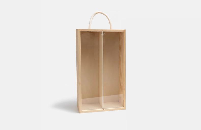 Pine Box for 2 Bottles of Wine