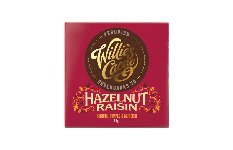 Willie's Hazelnut & Raisin Bar
